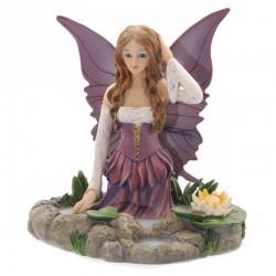 Fada de Avalon Lisa Parker-Fairy com lírio de água