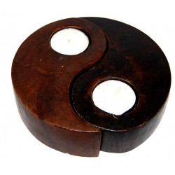 Porta Velas Yin e Yang