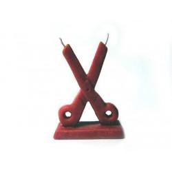 Vela Tesoura Vermelha
