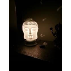Suporte de incenso buda branco thai