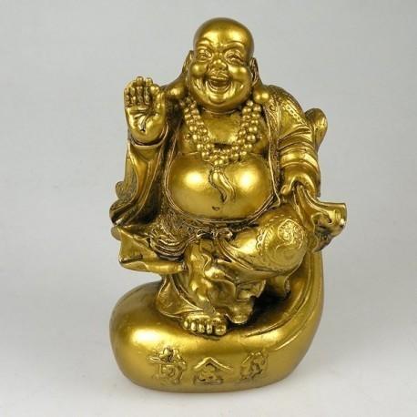 Buda Dourado Sorridente