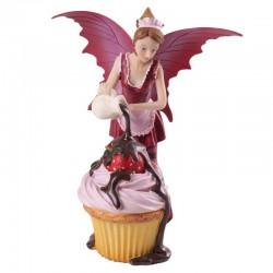 Fada Rosa com Cupcake