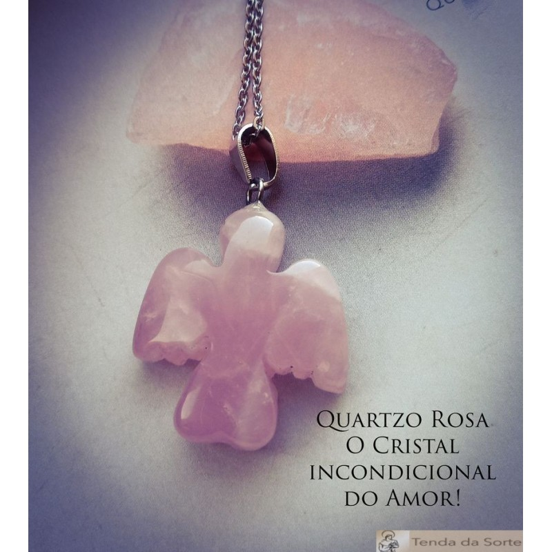 Colar Quartzo Rosa