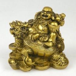 Buda Sorridente com Tartaruga